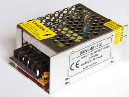 Блок питания 12В 4А 48Вт негерметичный для светодиодной ленты Compact