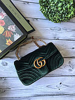Милейшая сумочка GUCCI GG Marmont бархат 26 см (реплика), фото 1