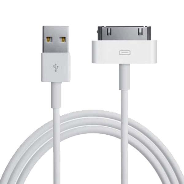 Кабель TOTO USB to Apple 30 pin iPhone 3GS/4S 100 см White