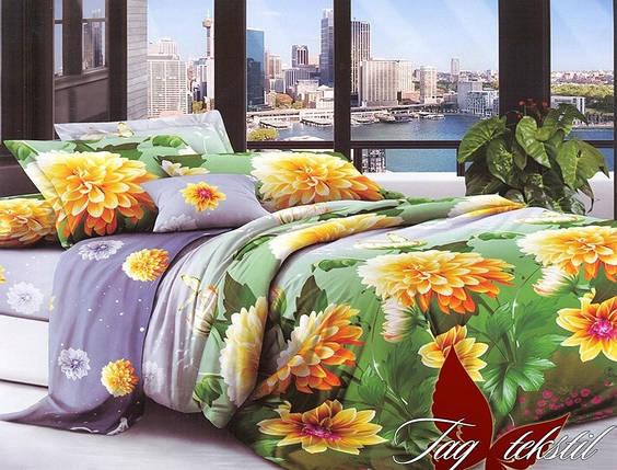 Семейный комплект постельного белья с Цветами, Поликоттон, фото 2