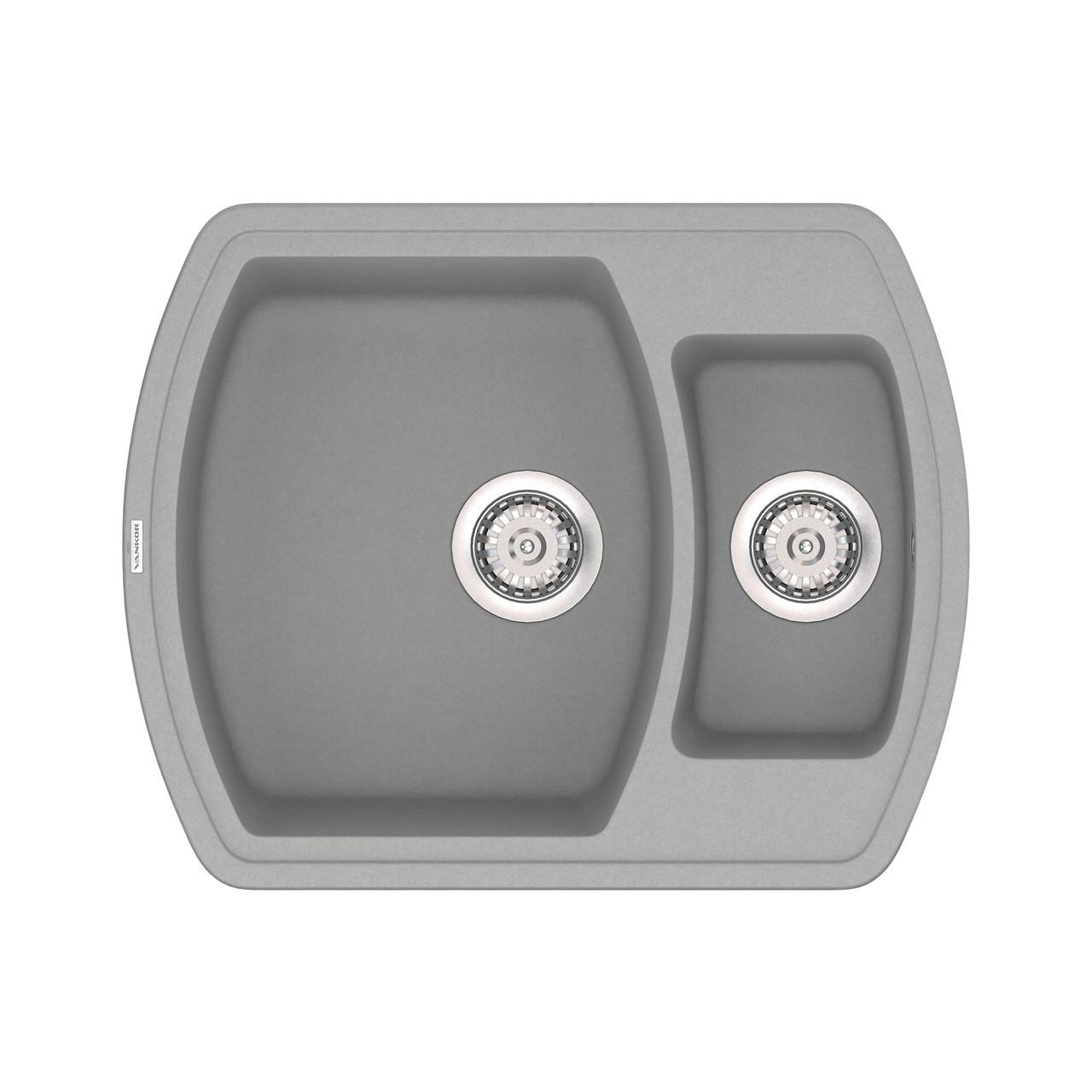 Кухонная мойка (кварц) VANKOR Norton NMP 03.63 6 цветов + сифон