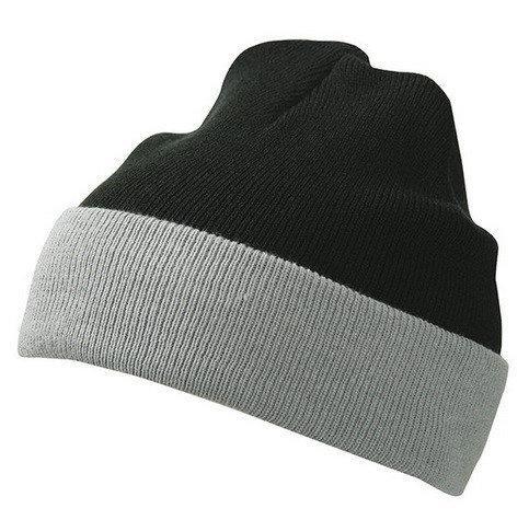 Вязаная шапка с отворотом комбинированная 7550-9-k874 Myrtle Beach