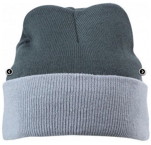 Вязаная шапка с отворотом комбинированная 7550-2-k876 Myrtle Beach