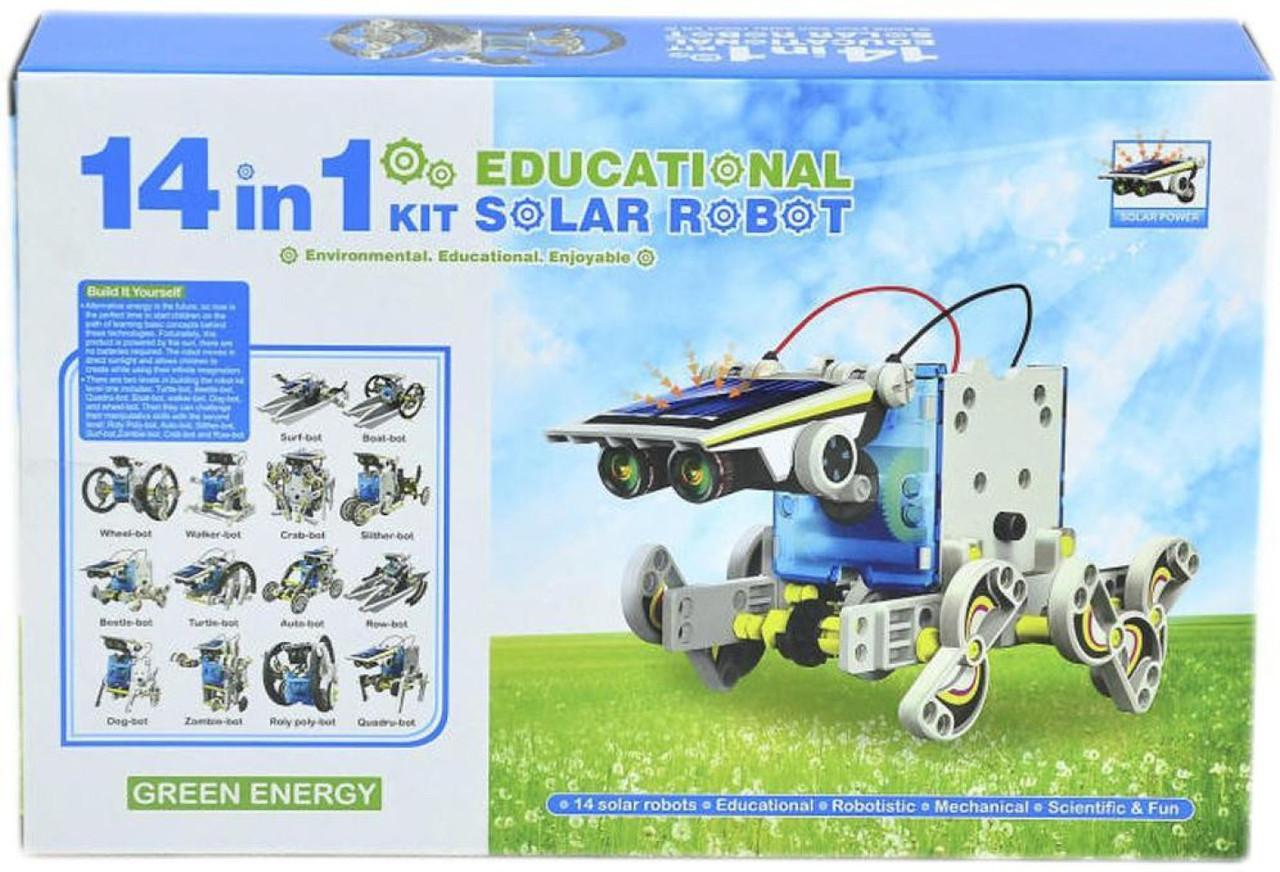 Робот-конструктор 14 в 1 на солнечной батарее