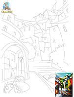Холст на картоне с контуром Пейзаж №15