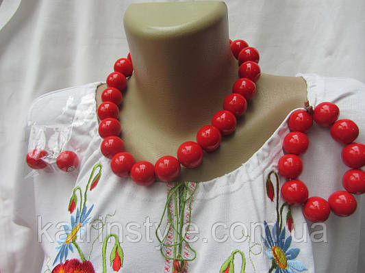 Бусы женские комплект (браслет,серьги)