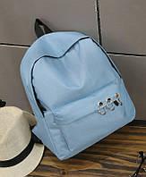 Голубой рюкзак с кольцами