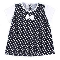 Детская блуза с коротким рукавом, на рост - 80, 92, 104, 116 см. (арт:1-46), фото 1