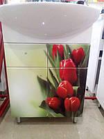 Тумба с умывальником,Либра, Тюльпаны