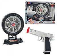 Пистолет и мишень в виде колеса музыкальный светится с мишенью, 2148, 003038, фото 1