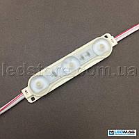 Светодиодный модуль SHINE 3LED SMD2835 Белый 5000-5500К IP67, фото 1