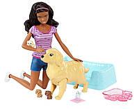 "Набір лялька Барбі брюнетка ""Малята-щенята"" Barbie (FBN17), фото 1"
