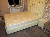 Кровать с высоким изголовьем из кожзама =КОРОЛЕВСКАЯ=, фото 1