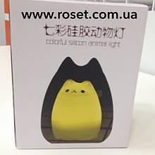 Светодиодный  ночник силиконовый Котик LED Sleep Lamp