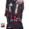 Качественный рабочий костюм с полукомбинезоном SteelUZ, красная отделка, фото 7