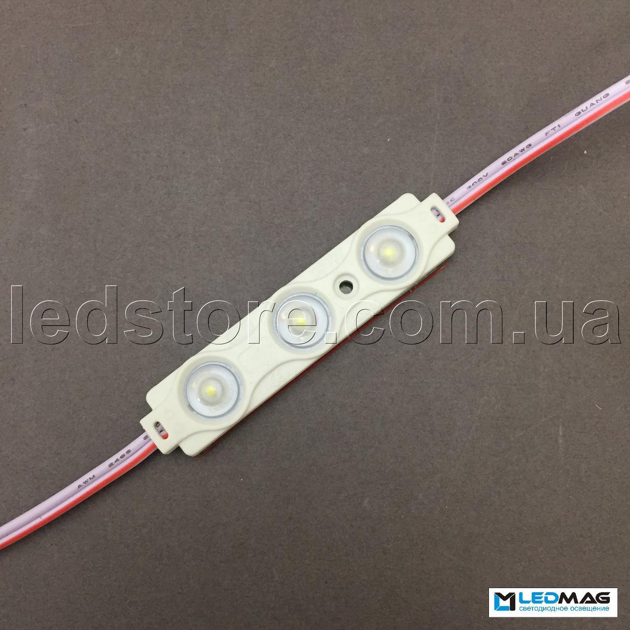 Светодиодный модуль с линзой OPTX 3LED SMD2835 IP65