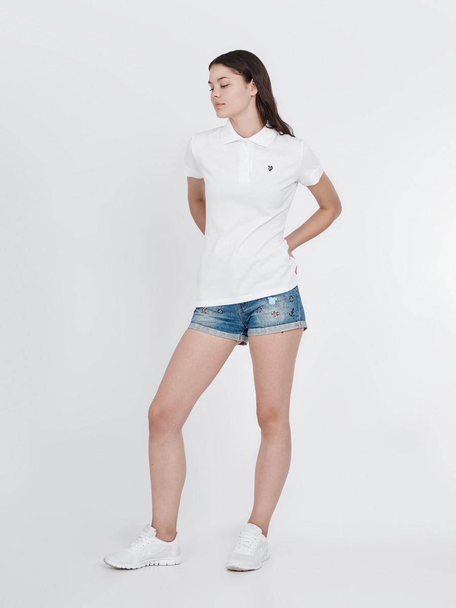 25b310cb976 Футболка женская поло белая WHITE Urban Planet (футболки