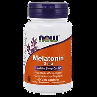 Снотворное NOW Melatonin 3 мг (60 капс)