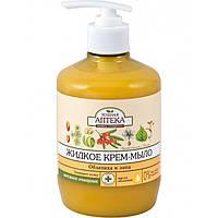 Жидкое крем-мыло «Облепиха и липа» Зелёная аптека