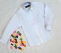 Рубашка на мальчика, размер 120-136, длинный рукав, белый