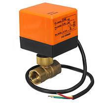 DN15/DN20220V4WЭлектрический моторизованный шаровой кран 2 Way 3 Провод Латунные клапаны, фото 2