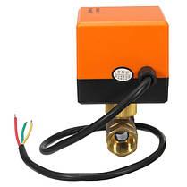 DN15/DN20220V4WЭлектрический моторизованный шаровой кран 2 Way 3 Провод Латунные клапаны, фото 3