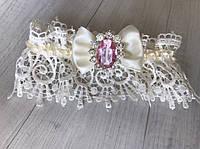 """Свадебная подвязка на ножку невесты  """"Stylish bride"""" шикарным ажуром"""