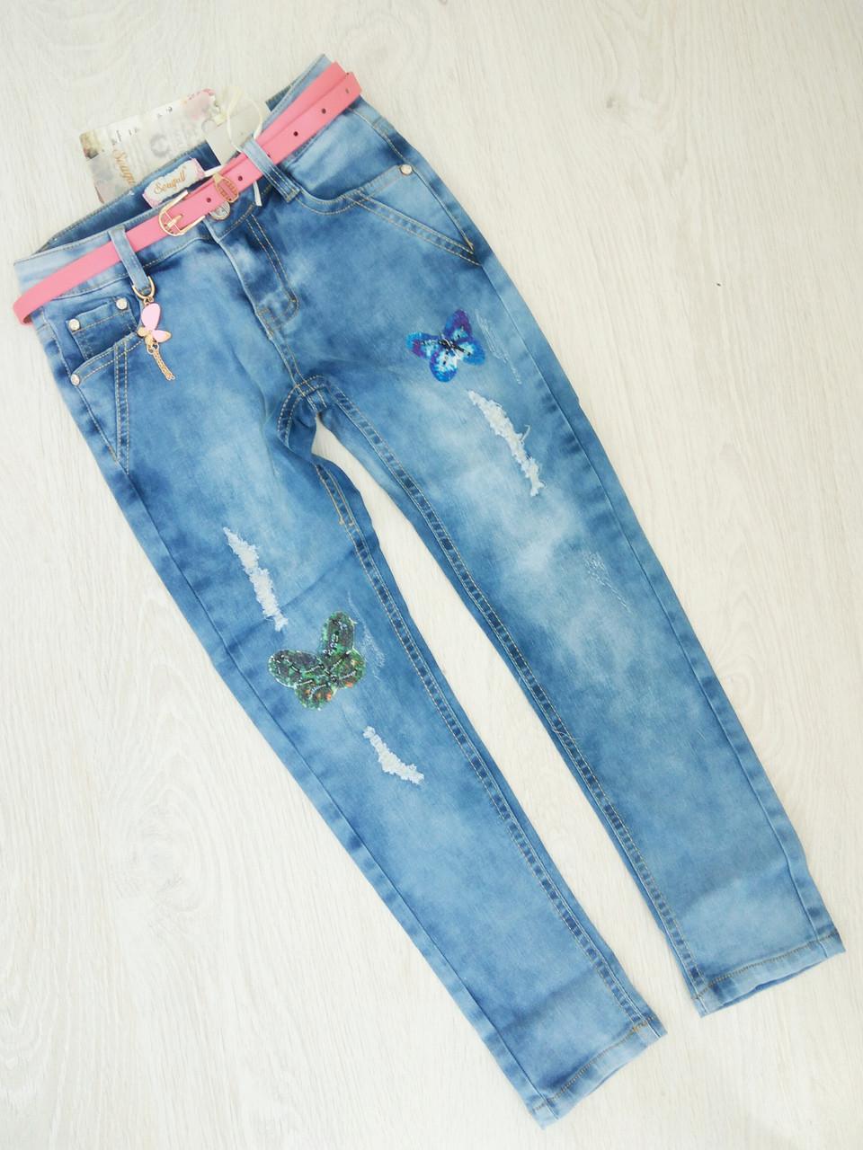 Джинсовые брюки для девочек , Венгрия , Seagull 164 рр. арт. CSQ-89785 ,