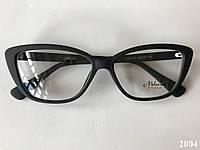 Имиджевые очки, модель 2004 черные матовые, фото 1
