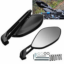 10 мм 8 мм с ЧПУ сторона сзади мотоцикл Зеркала Алюминиевая черная для Ducati/Harley/Honda/Kawasaki 1TopShop, фото 3