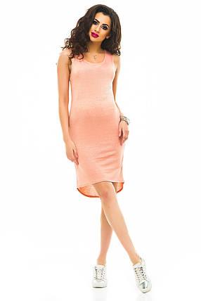 Платье  417 персик, фото 2