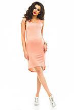 Платье  417 персик размер 46-48