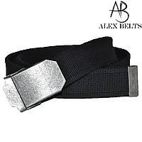 Ремень мужской джинсовый тканевый (черный) 40 мм-купить оптом в Одессе