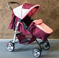 Коляска прогулочная Baby car бордо роз, фото 1