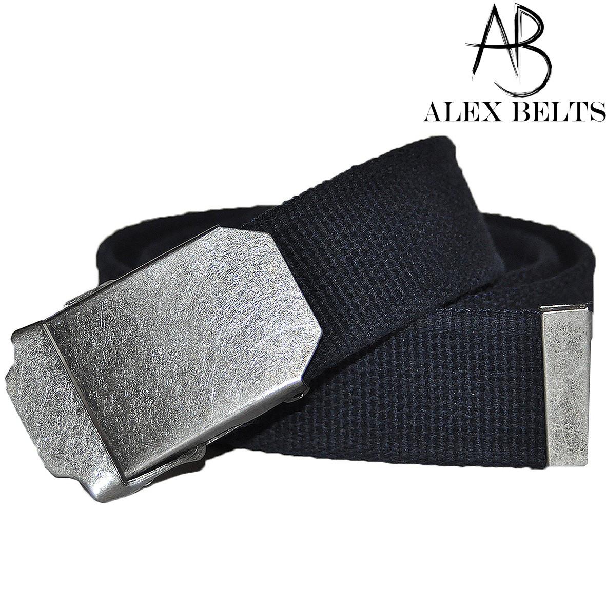 Ремень мужской джинсовый тканевый (темно-синий) 40 мм-купить оптом в Одессе