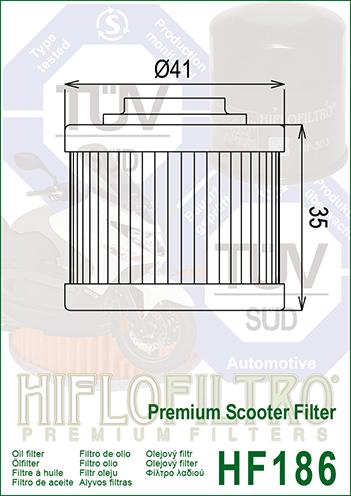 Масляный фильтр HF186