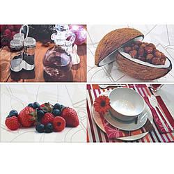 Декор 7004 Blanco Gourmet II Porcelanite Dos 500x750 (033107)