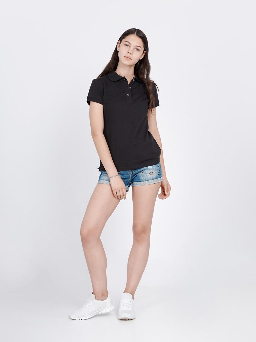 f6503e66e51 Футболка женская поло черная BLAC Urban Planet (футболки