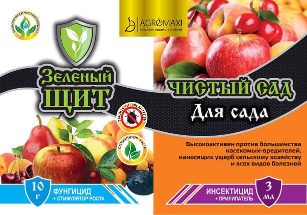 Инсектицид+Фунгицид Для Сада 10г+3мл Зеленый щит, фото 2
