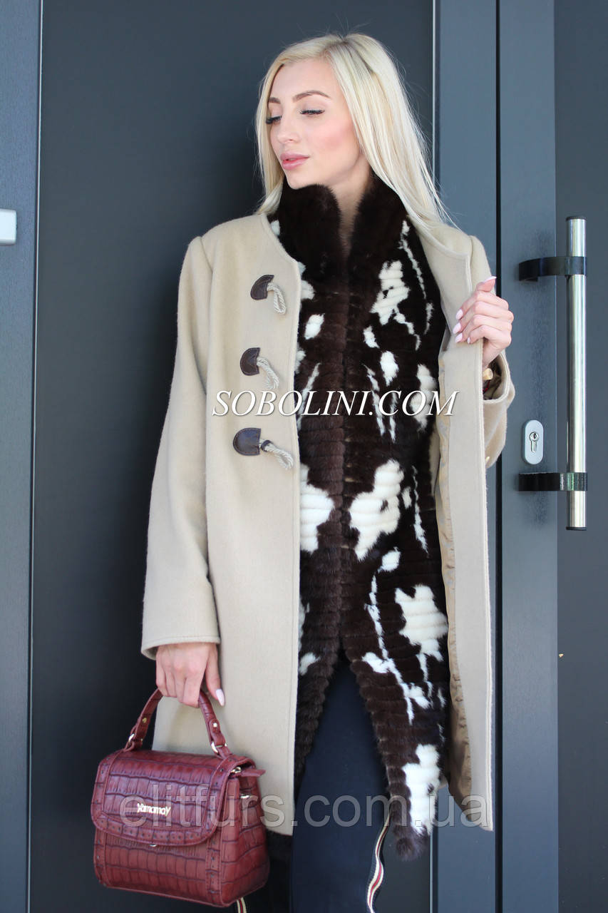 Пальто кашемировое 4 в 1  с жилетом, 46 размер