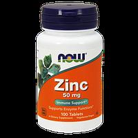 Цинк NOW Zinc Gluconate (50 мг) (100 таб)