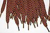 Шнурки 15мм плоскиес металлическим наконечником (антик)