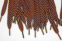 Шнурки 15мм плоскиес металлическим наконечником (антик), фото 1