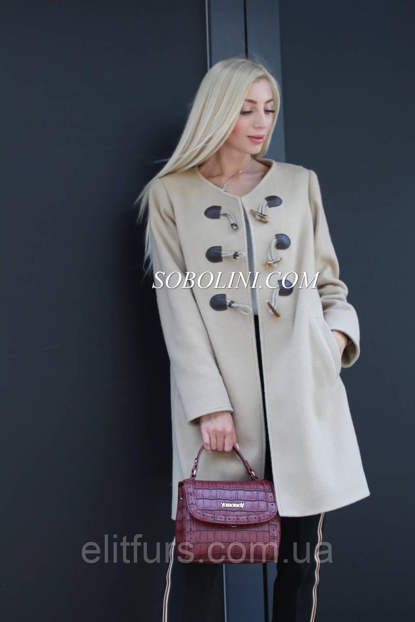 Кашемировое пальто в длине 90см