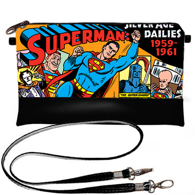 Стильный женский клатч женский Герой Супермен