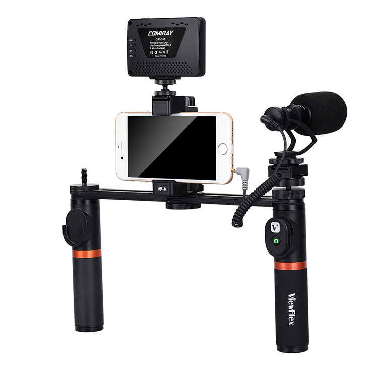 VIEWFLEX VF-H7 Bluetooth Электронный стабилизатор видеосигнала с Светодиодный Микрофон Дистанционное Управление 1TopShop