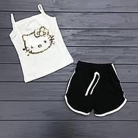 Комплект майка и шорты с двусторонними пайетками для девочек оптом р.2-6 лет