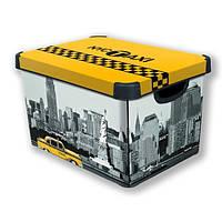 Коробка декоративная  TAXI NEW YORK 23л