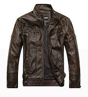 Куртка кожаная мото-байкерская.Натуральная кожа.