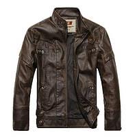 Куртка байк, молодежная с натуральной кожи.